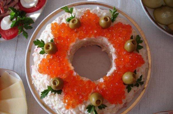 Салат из кальмаров по царски рецепт
